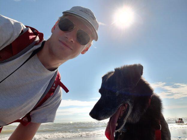Hugo an I on the Beach at Berck sur Mer