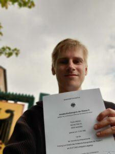 HAM Radio License Class E passed!