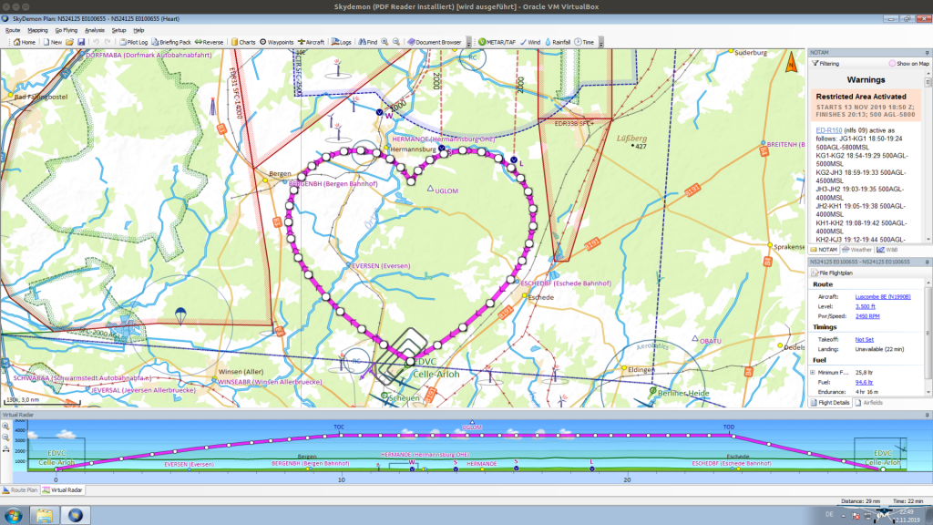 Finished Flightplan in SkyDemon
